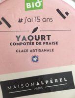 Yaourt compotee de fraise glace - Prodotto - fr