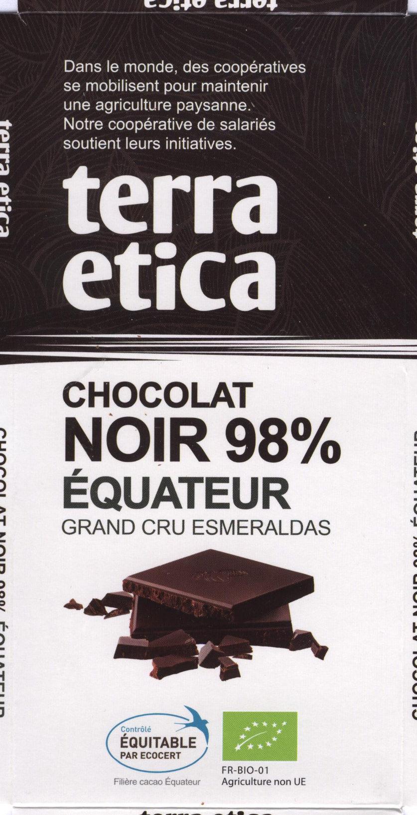 Chocolat Noir 98% Équateur - Product
