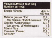 Chocolat Noir 98% Équateur - Voedingswaarden