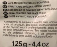 Dosettes Pur Arabica Du Perou - Ingredienti - fr