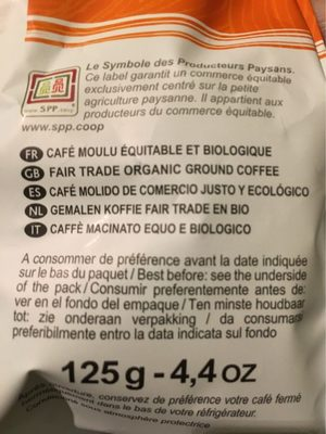 Dosettes Pur Arabica Du Perou - Voedingswaarden - fr