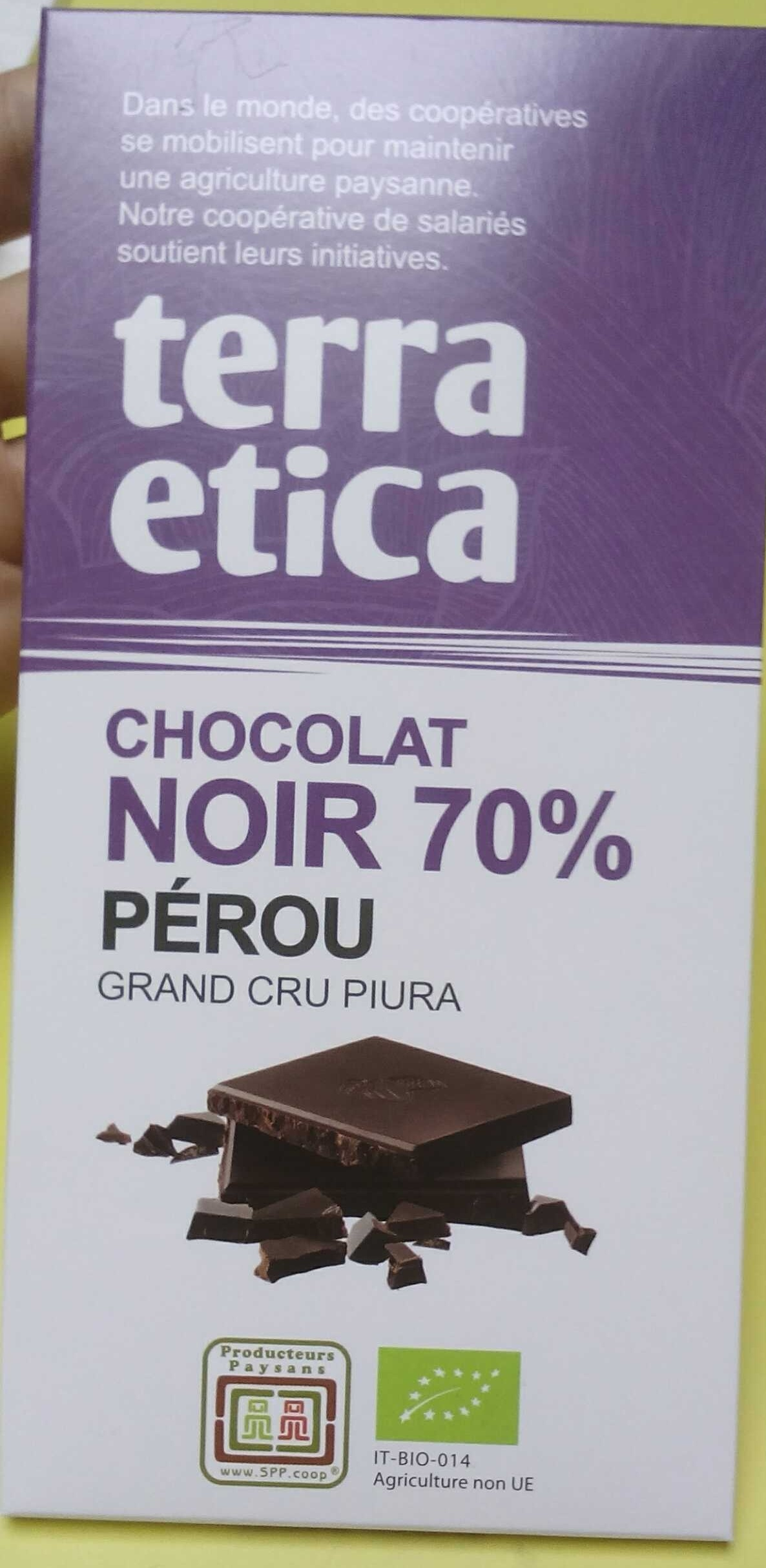 chocolat noir 70 p rou grand cru piura terra etica 100 g. Black Bedroom Furniture Sets. Home Design Ideas