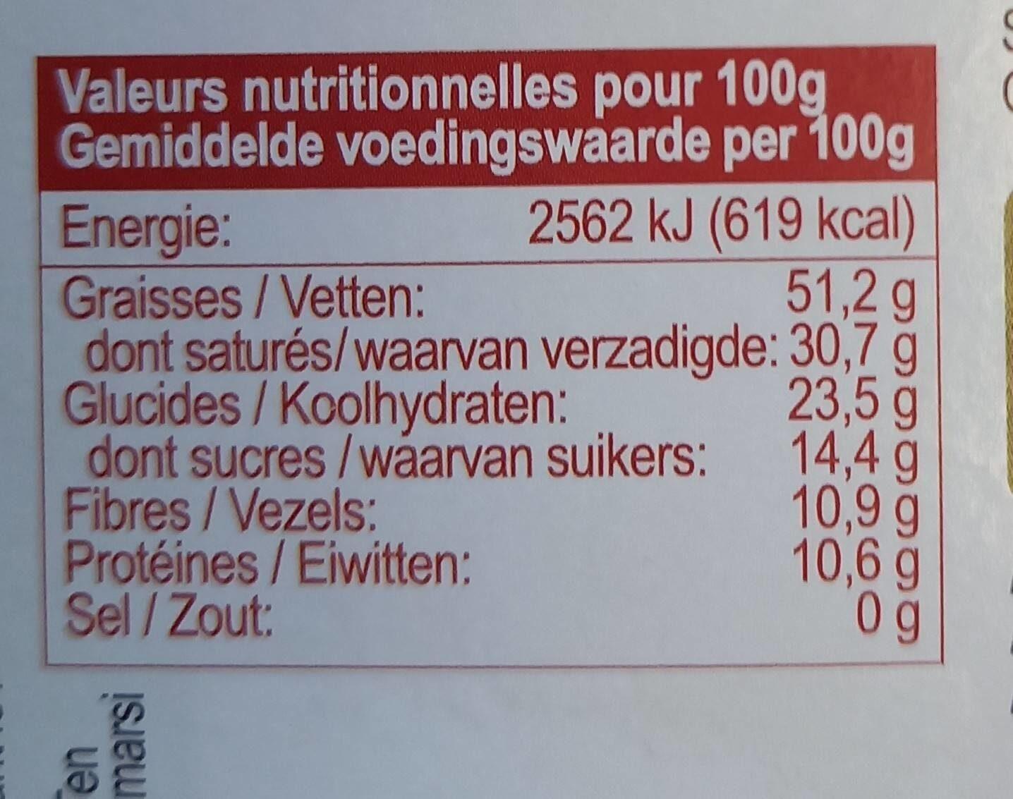 Chocolat noir 85% Madagascar grand cru sambirano - Valori nutrizionali - en