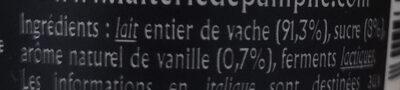 Yaourt à la vanille - Ingrédients - fr