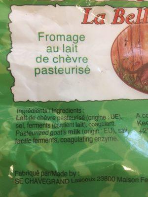 Fromage de chevre - Ingrédients - fr
