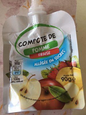 Compote de pomme fraise - Produit