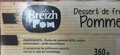 Délice de Pomme - Ingredienti - fr
