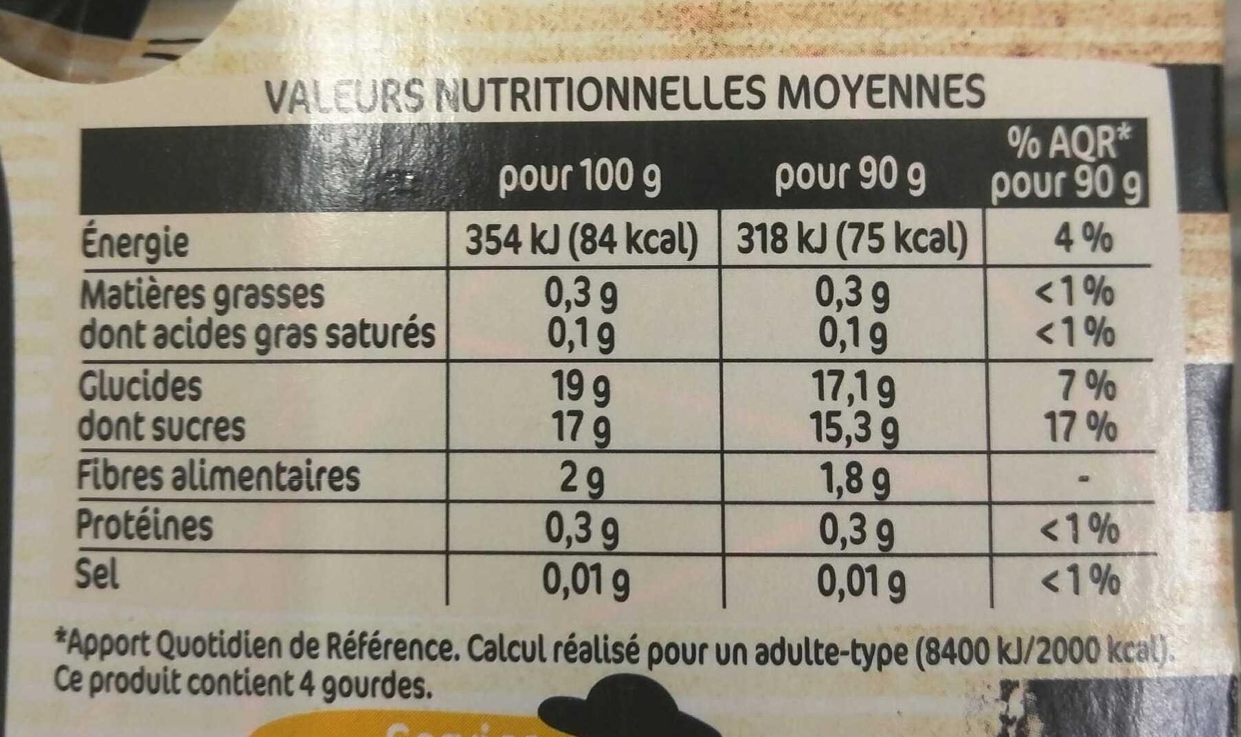 Délice de Pomme - Valori nutrizionali - fr