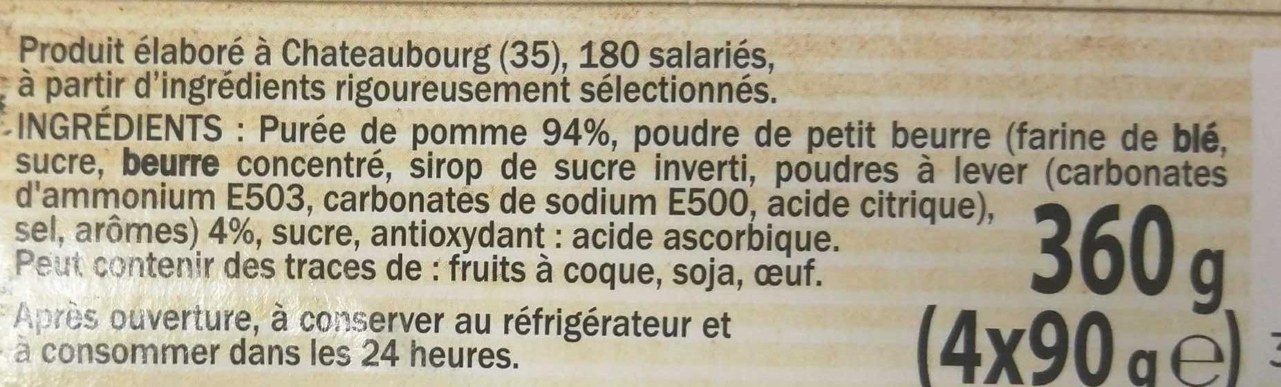 Délice de Pomme Petit beurre - Ingrédients