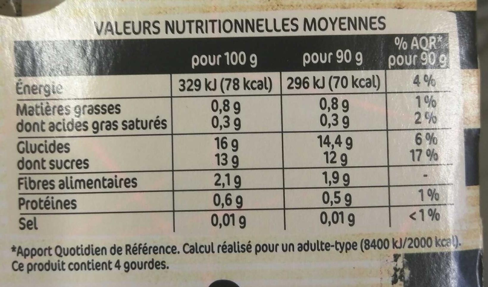 Délice de Pomme Petit beurre - Informations nutritionnelles