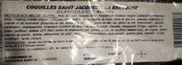 Coquilles Saint jaques à la bretonne - Ingrédients - fr