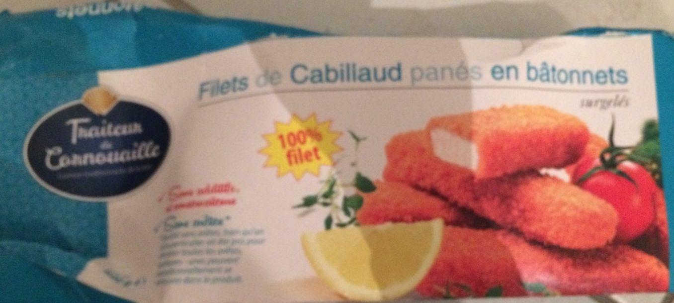 Filets de Cabillaud Panés en Bâtonnets Surgelés - Produit - fr