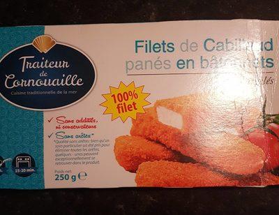 Filet de cabillaud panés en bâtonnets - Produit - fr