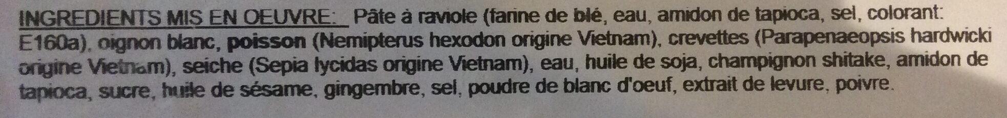 Boulettes de Crevettes - Ingrédients - fr