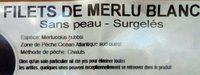 Filets de merlu blanc - Ingrédients - fr