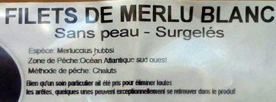 Filets de merlu blanc - Ingrédients