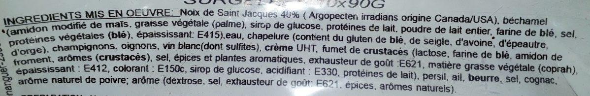Coquilles St-Jacques à la Bretonne - Ingredients - fr