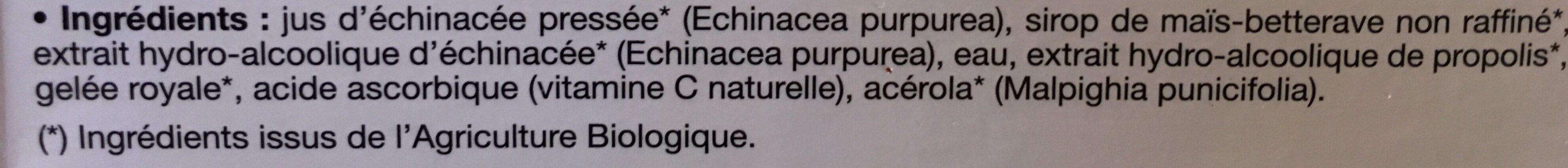 Immuno+ Propolis - 20 Ampoules - Ladrôme - Ingrédients - fr