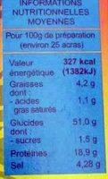 Préparation pour Acras de Morue - Nutrition facts