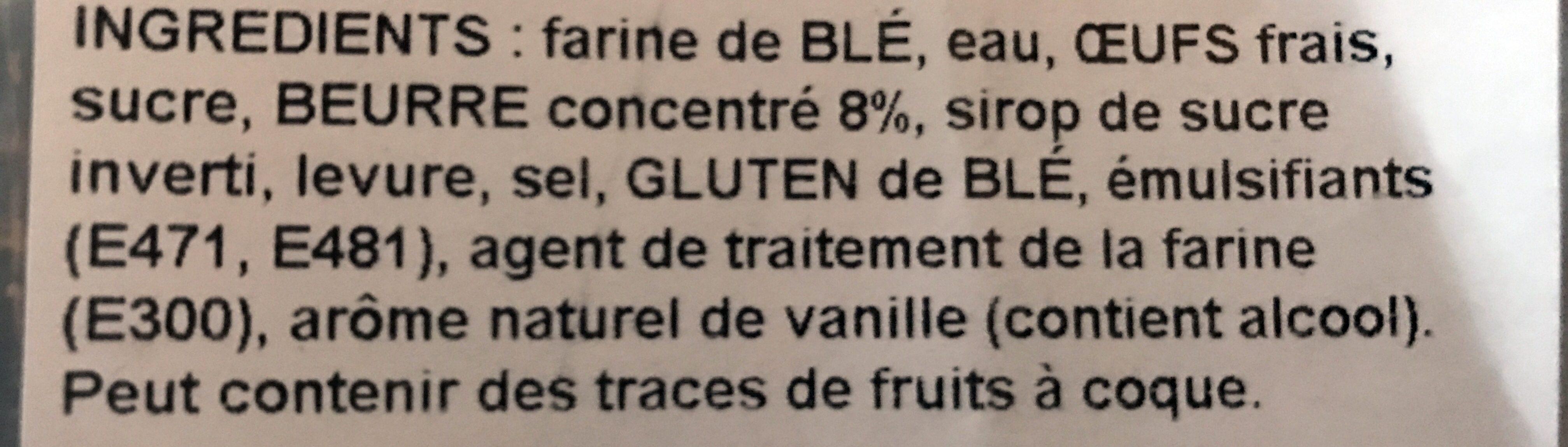 Brioche Tressée Pur Beurre - Ingrédients - fr
