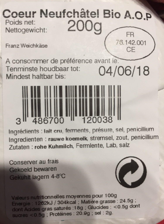 Neufchatel - Ingredients
