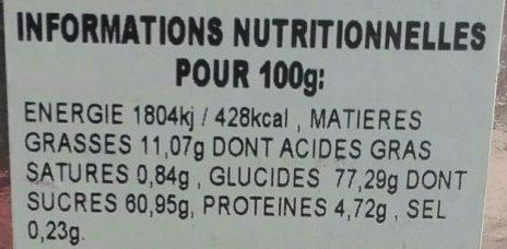 Nougat Tendre de Montélimar - Nutrition facts