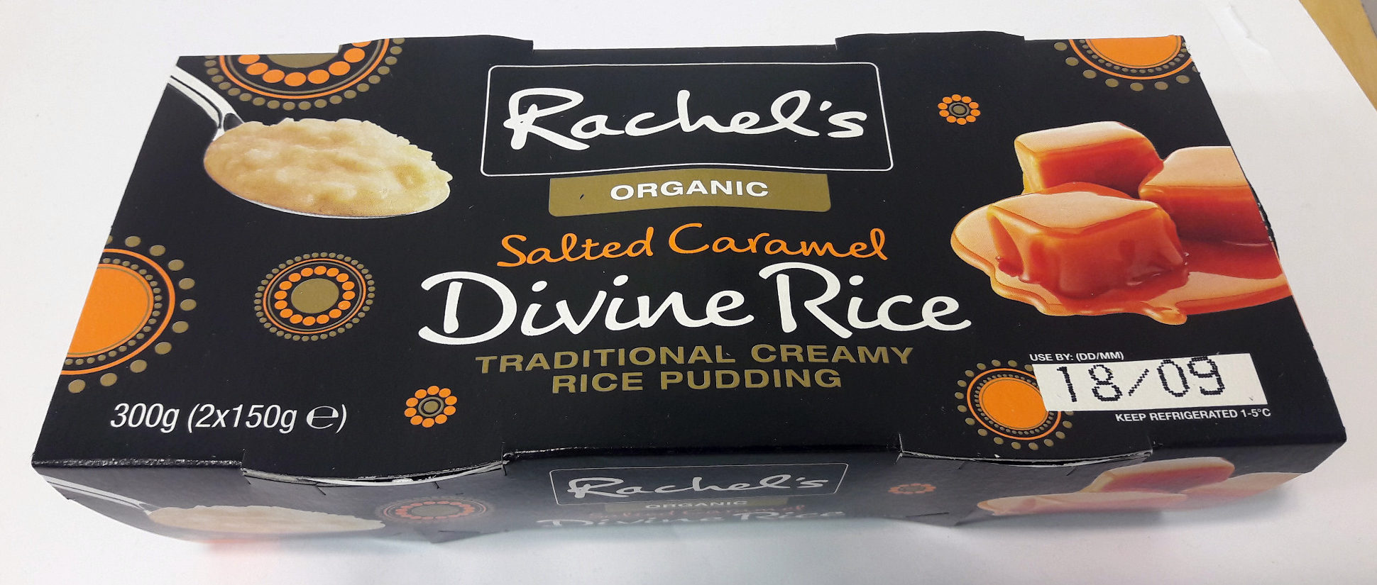 Rachel's organic Divine Rice Salted Caramel - Product
