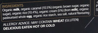 Rachel's organic Divine Rice Salted Caramel - Ingredients