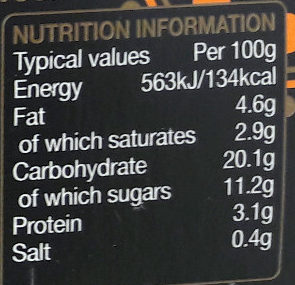 Rachel's organic Divine Rice Salted Caramel - Nutrition facts