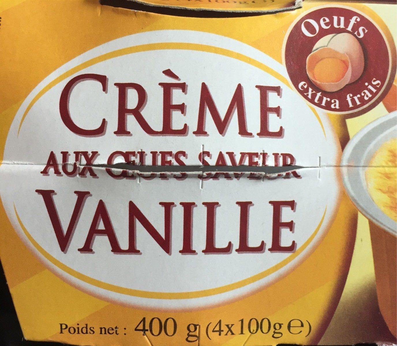 Crème aux Œufs Saveur Vanille - Produit - fr