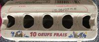 10 oeufs frais - Produit - fr