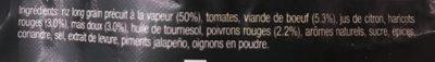 Chili con Carne VIANDE HACHÉE & LÉGUMES - Ingrédients - fr