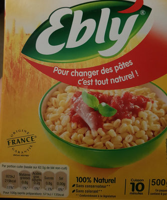 Ebly® - Ingredients