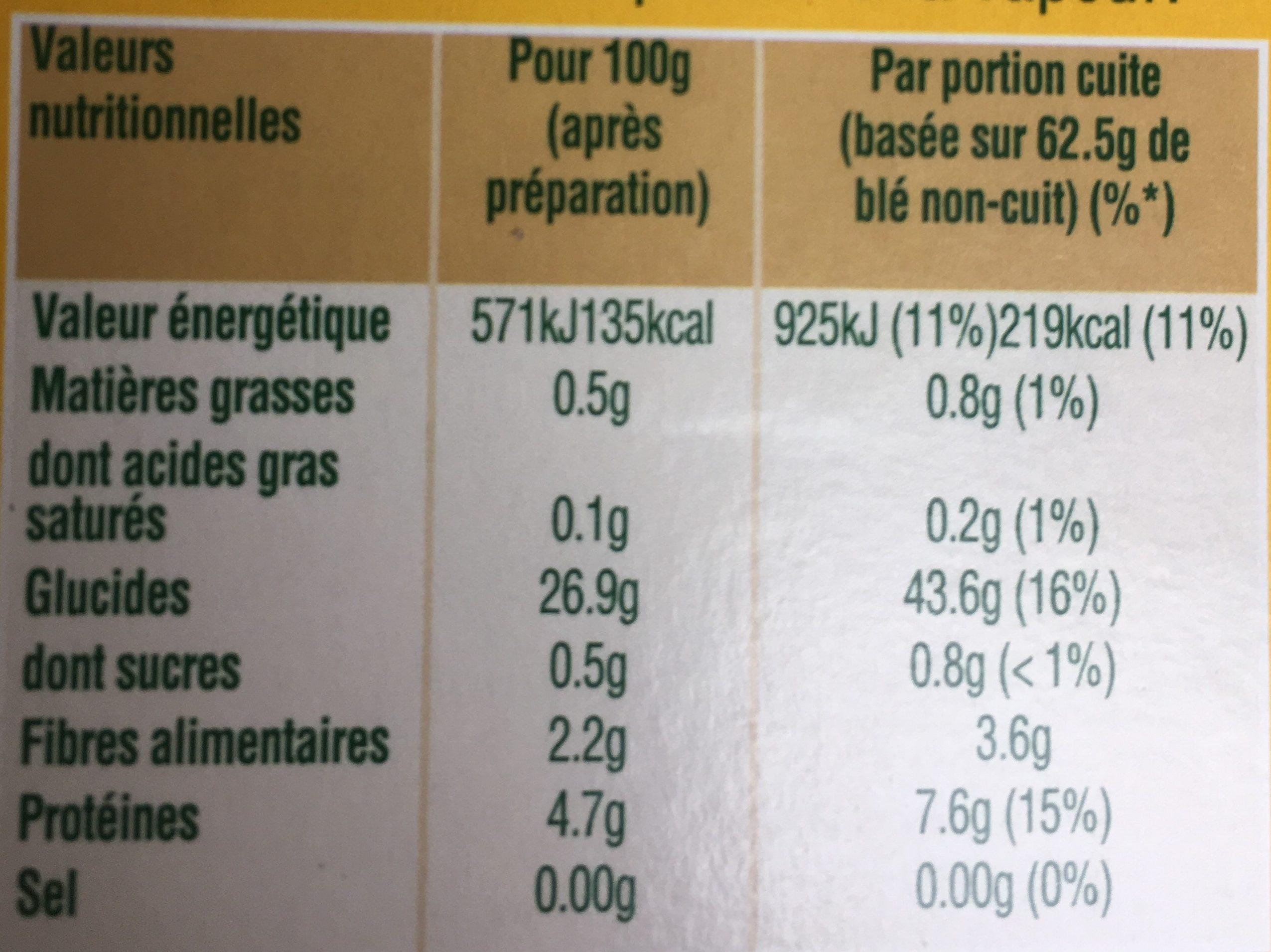 Ebly - Voedingswaarden