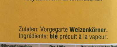 Blé Gourmand - Ingrédients - fr