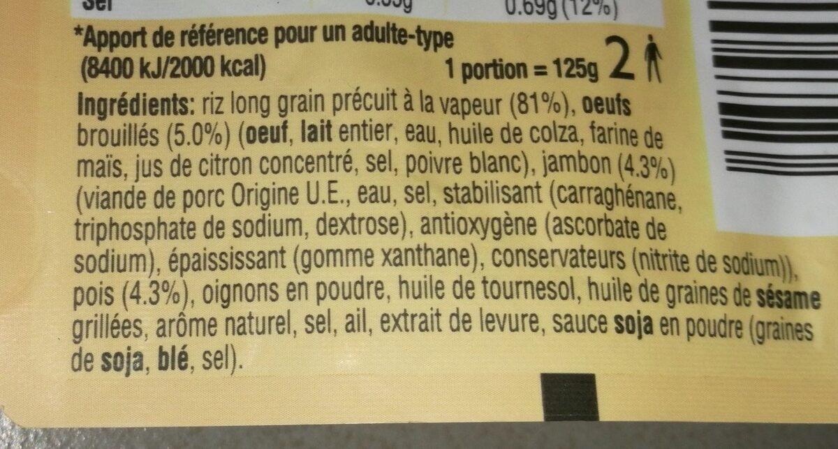 Riz cantonais - Ingrédients - fr