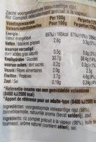 Riz complet - Voedingswaarden - fr