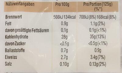 Spitzen-Langkorn-Reis - Nährwertangaben - de