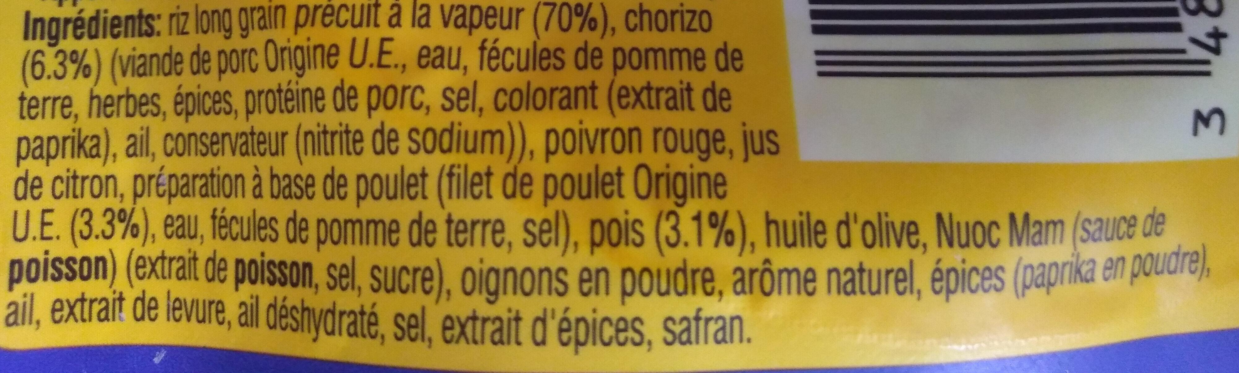 Riz façon paëlla Uncle Ben's 250 g - Ingrédients - fr
