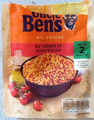 riz cuisiné tomate et huile d'olive - uncle ben's - 250 g