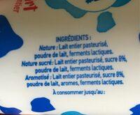 Yaourt au lait entier Maugain - Ingredients - fr