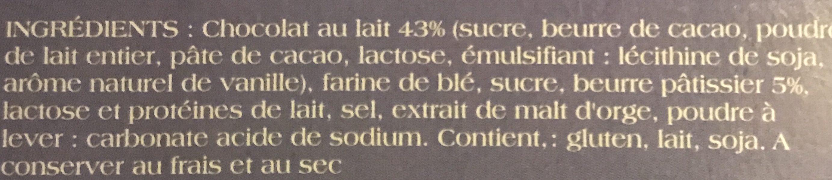 Crêpe dentelle ( chocolat au lait ) - Ingrédients - fr