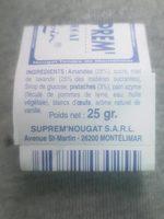 Nougat tendre de Montelimar - Ingrédients