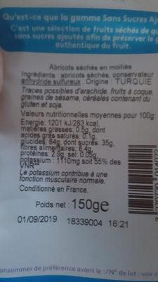 abricot sec - Ingrediënten