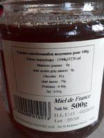 Miel Châtaignier - Ingredients - fr