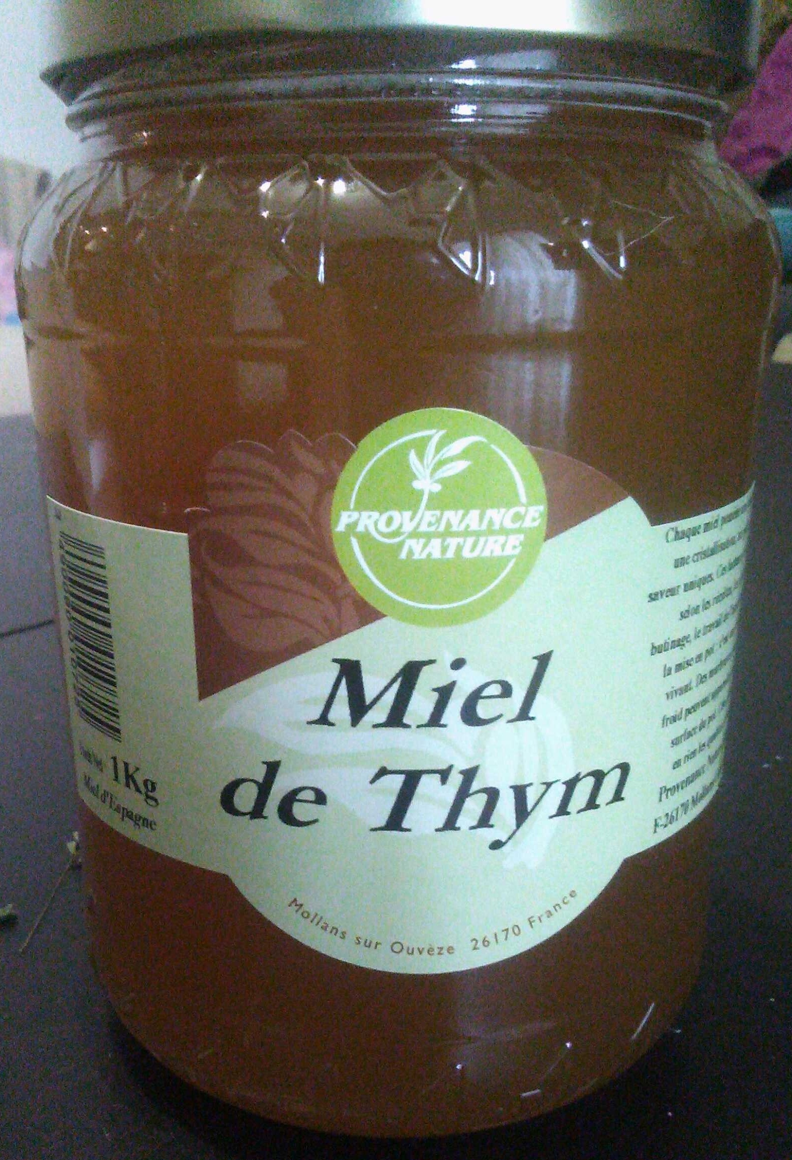 miel de thym provenance nature