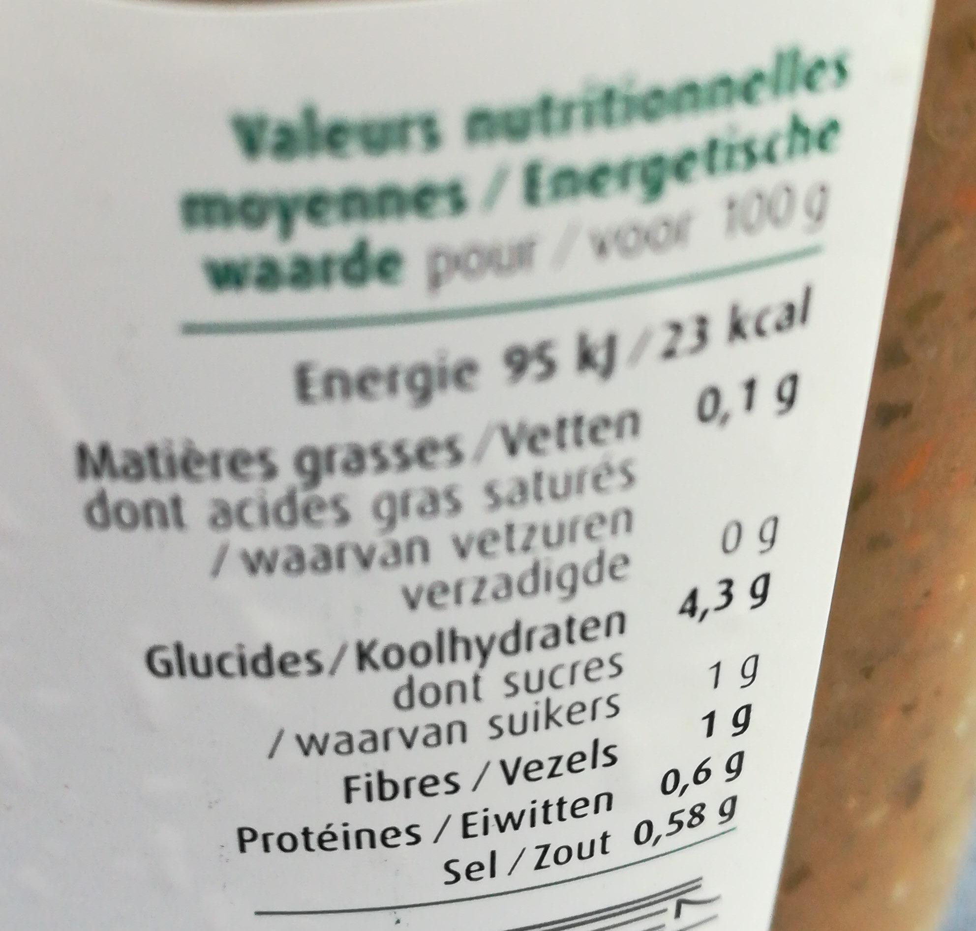 Soupe 5 légumes - Voedingswaarden