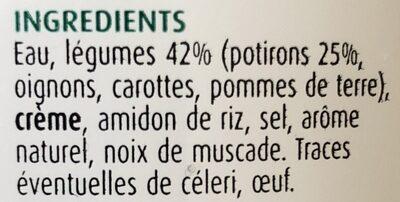 Supreme de potiron Contient 4 legumes. - Ingrediënten