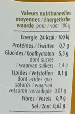 Potage bio Potimarron - Voedingswaarden - fr