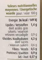 Velouté champignons & cèpes - Voedingswaarden - fr